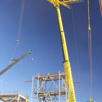 Allied Crane Hire_Liebherr LTM1500_All Terrain_550T_Crane_Jib_Mine