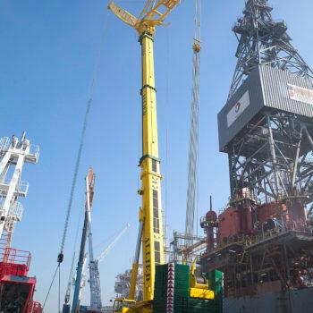 Allied Crane Hire_Liebherr LTM1500_All Terrain_550T_Crane_Harbour_Drilling Rig